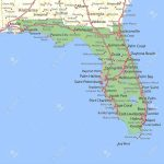 Map Of Florida. Shows State Borders, Urban Areas, Place Names   Sebastian Florida Map
