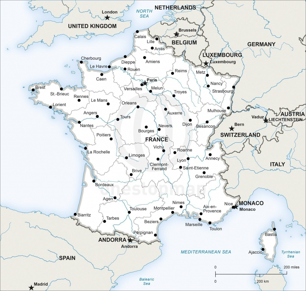 Map Of France Printable And Travel Information   Download Free Map - Printable Map Of France With Cities