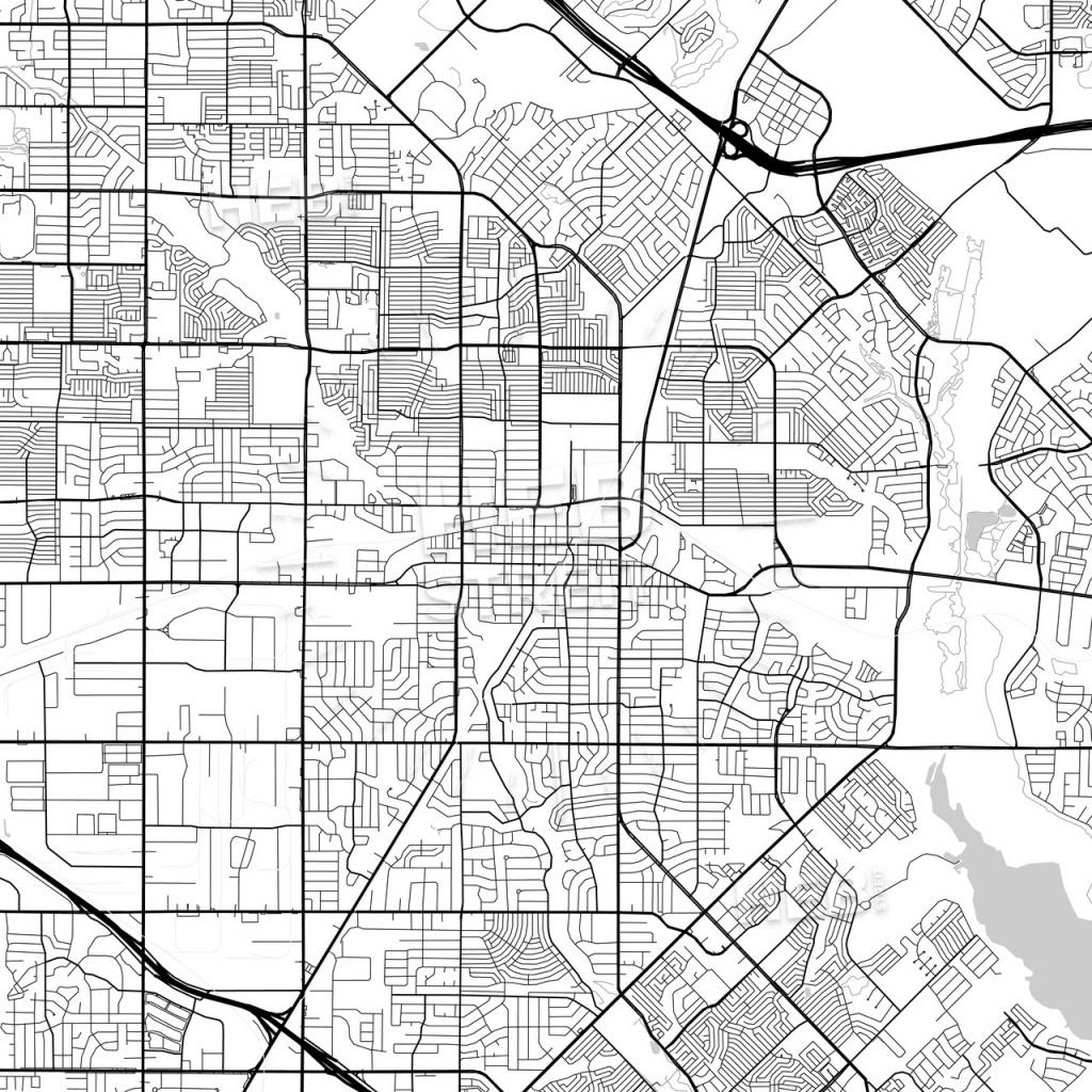 Map Of Garland, Texas   Hebstreits Sketches - Garland Texas Map