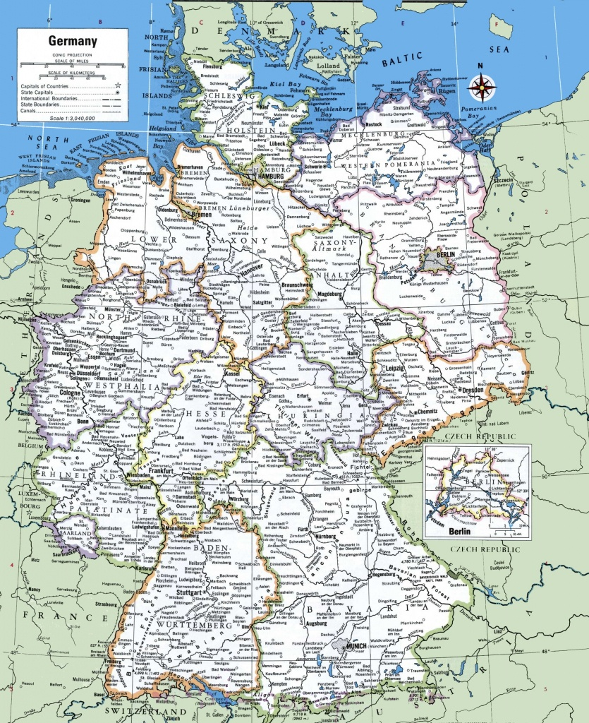 Map Of Germany With Cities And Towns - Free Printable Map Of Germany