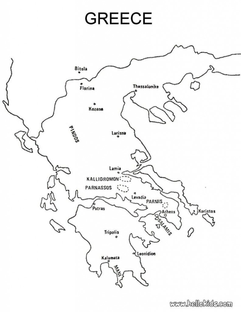 Map Of Greece Printable And Travel Information   Download Free Map - Outline Map Of Greece Printable