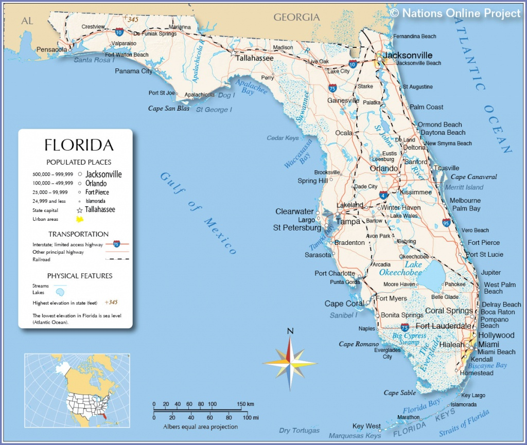 Map Of Gulf Coast Cities And Travel Information   Download Free Map - Map Of Florida Beaches On The Gulf Side
