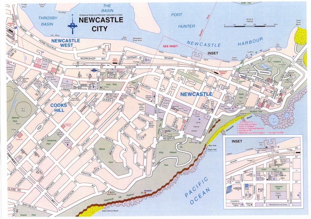 Map Of Hamilton Nsw   Download Them And Print - Printable Map Of Newcastle Nsw