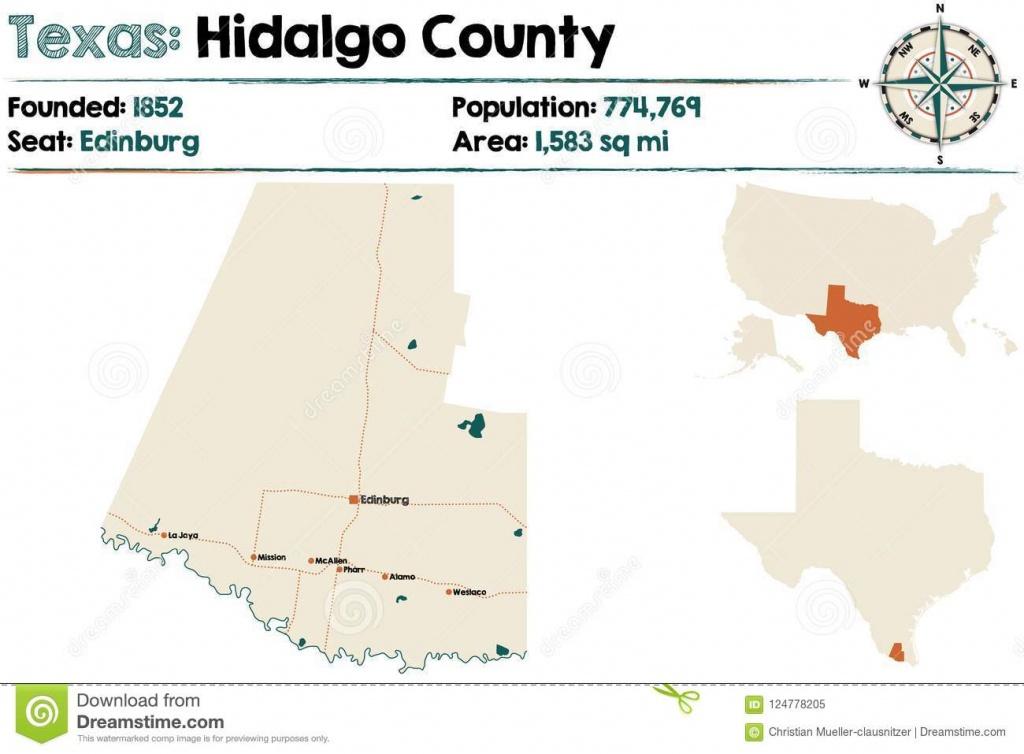 Map Of Hidalgo County In Texas Stock Vector - Illustration Of - Hidalgo County Texas Map