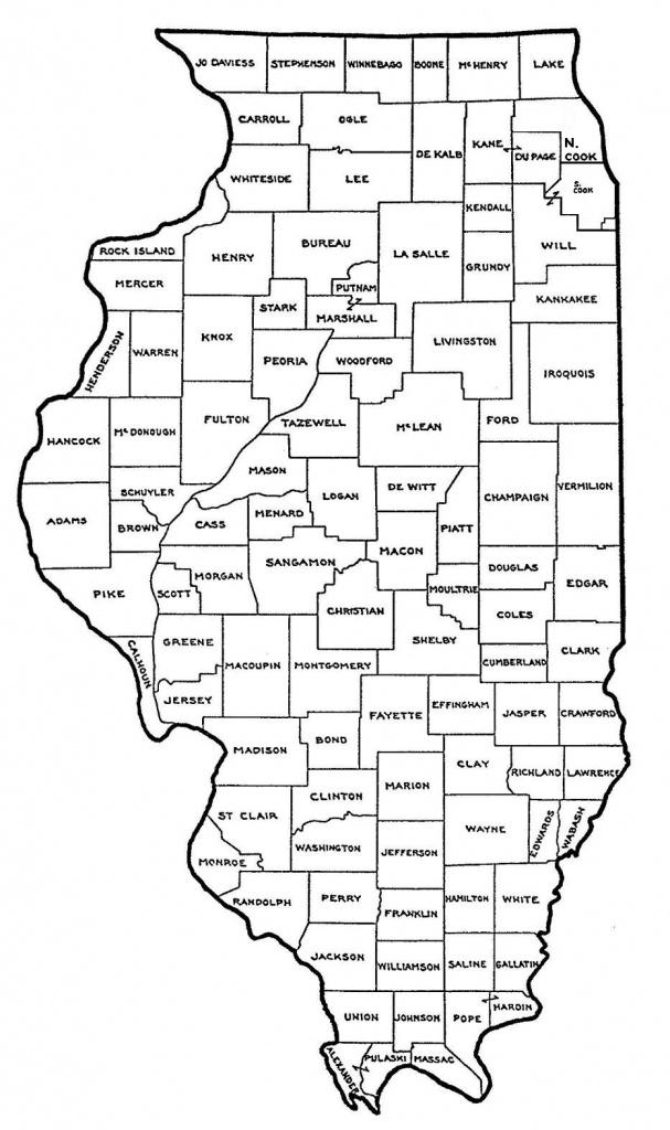 Map Of Illinois Counties   Sitedesignco - Illinois County Map Printable
