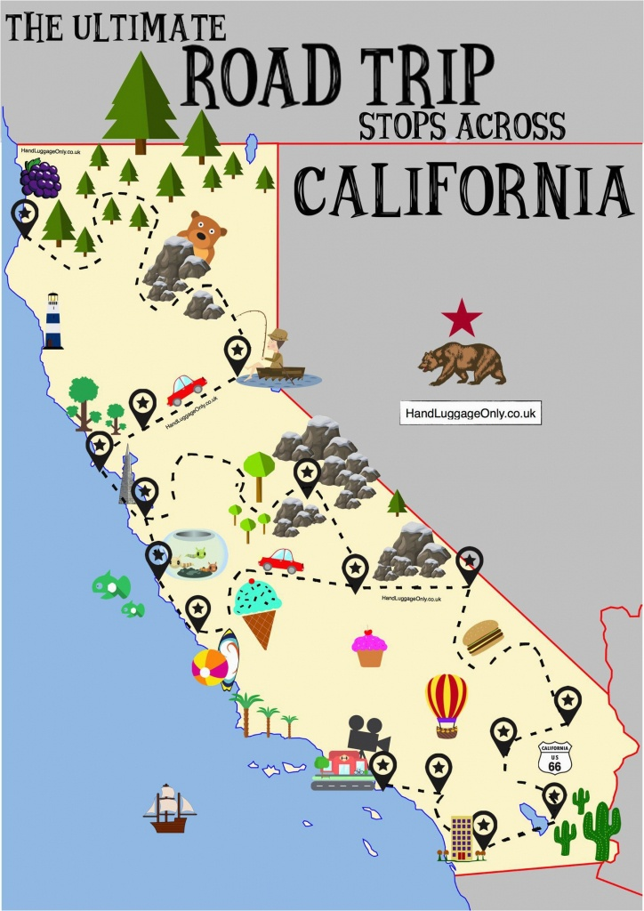 Map Of Las Vegas And California The Ultimate Road Trip Map Of Places - Map Of Las Vegas And California