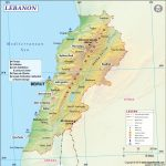 Map Of Lebanon   Printable Map Of Lebanon