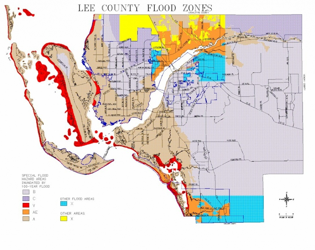 Map Of Lee County Flood Zones - Florida Flood Risk Map