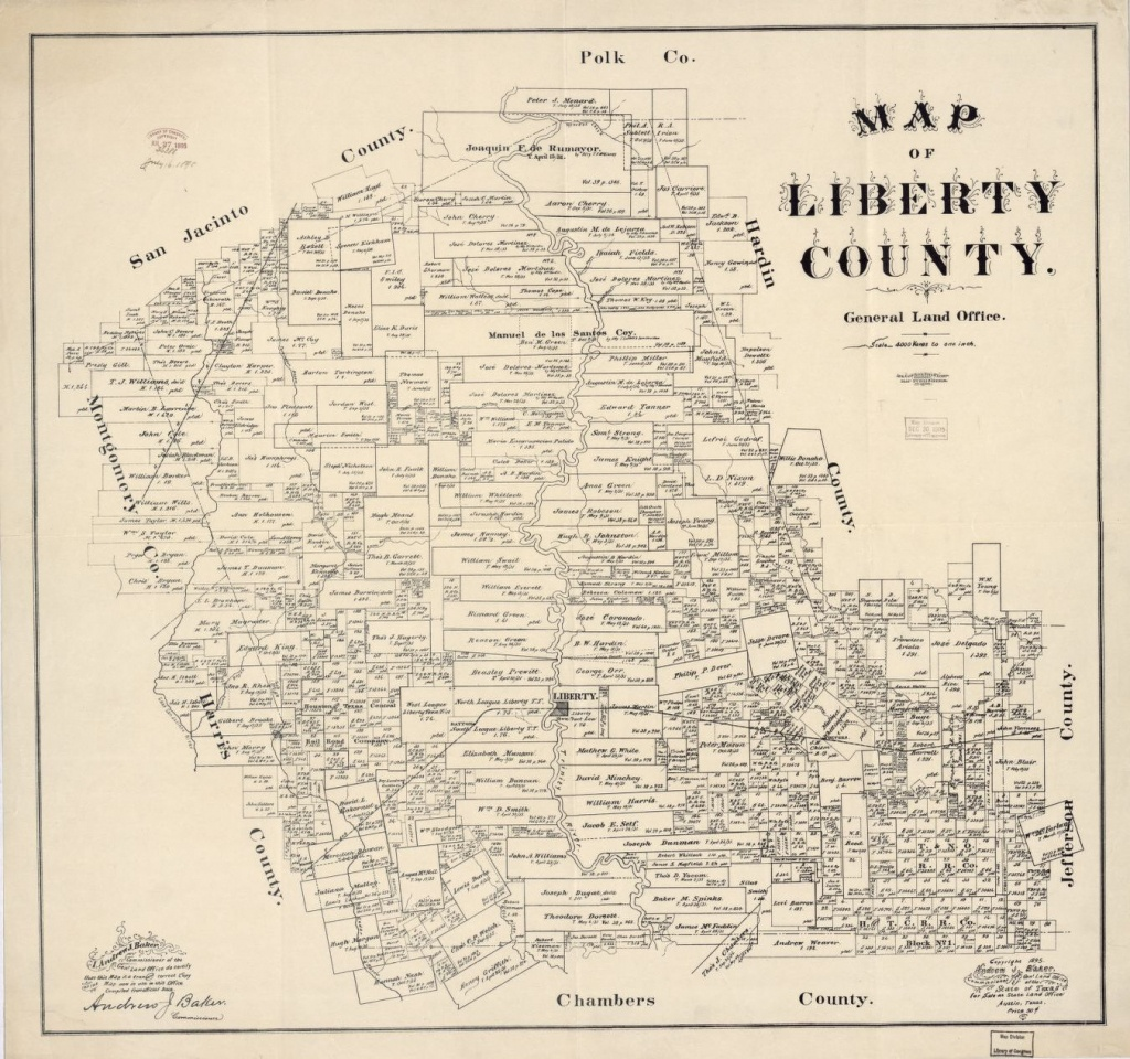 Map Of Liberty County, Texas : General Land Office | Library Of Congress - Texas General Land Office Maps