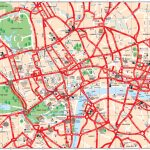 Map Of London Tourist Attractions, Sightseeing & Tourist Tour   Printable Street Map Of Central London