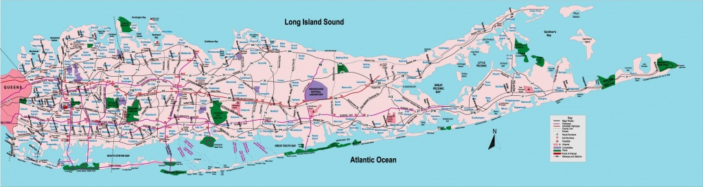 Map Of Long Island Towns - Map Of Long Island Ny Towns (New York - Usa) - Printable Map Of Long Island Ny