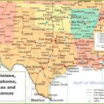 Map Of Louisiana, Oklahoma, Texas And Arkansas   Texas Arkansas Map