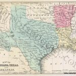Map Of Louisiana, Texas, And Arkansas *****sold*****   Antique Maps   Texas Louisiana Border Map