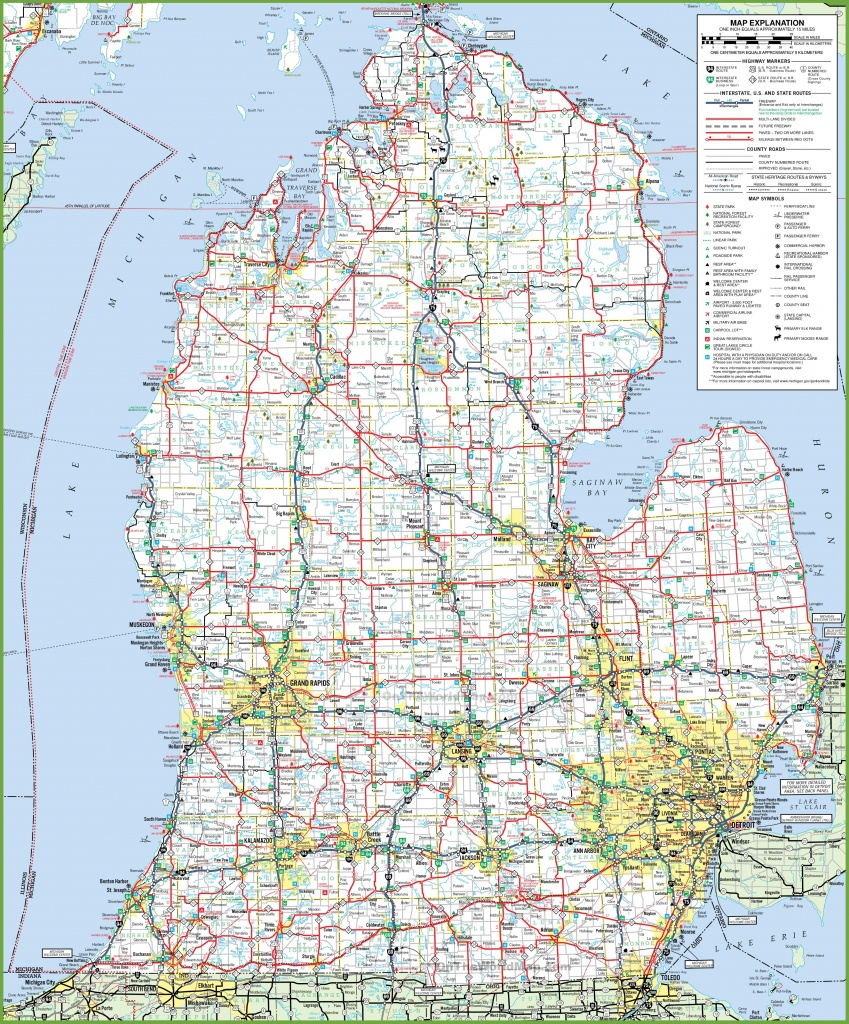 Map Of Lower Peninsula Of Michigan - Printable Upper Peninsula Map