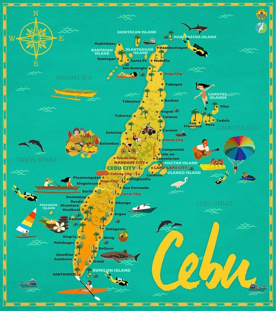 Map Of Mactan 26 Cordova 2C Province Of Cebu 2C Philippines 15 Cebu - Cebu City Map Printable