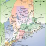 Map Of Maine Coast   Printable Road Map Of Maine