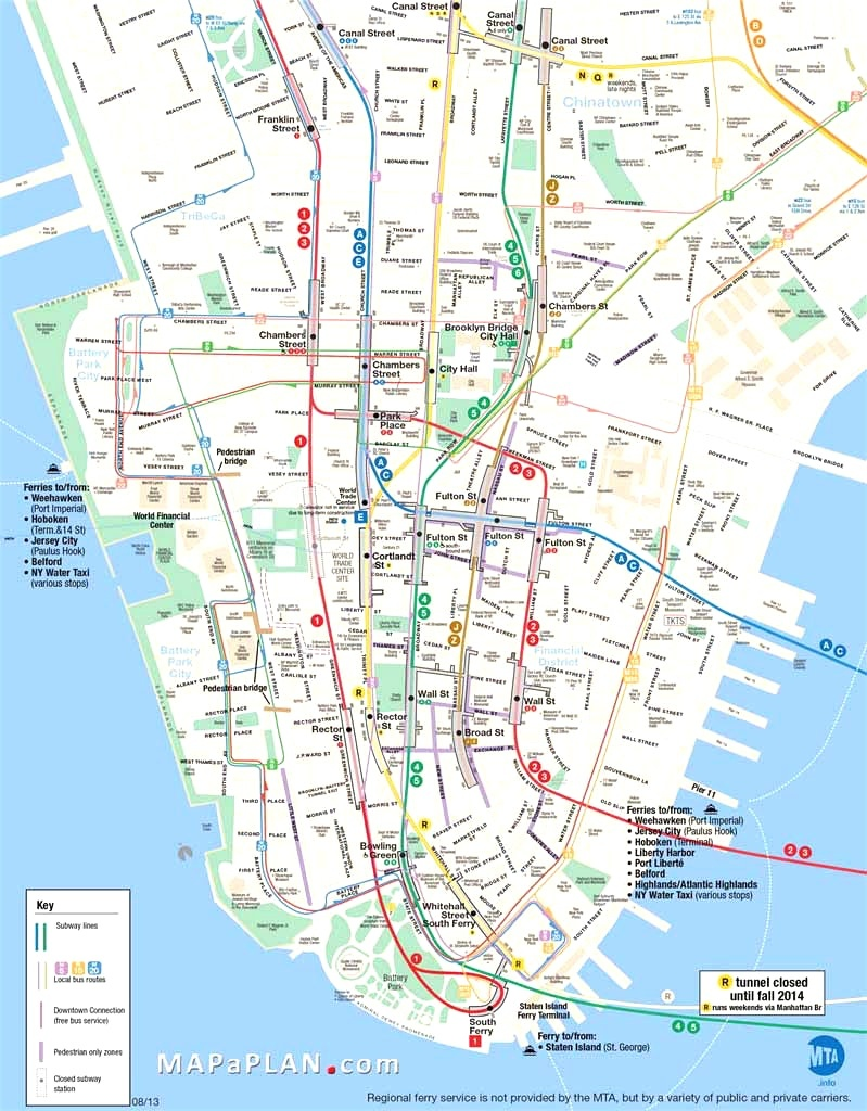 Map Of Manhattan Nyc And Travel Information   Download Free Map Of - Printable Map Of Manhattan