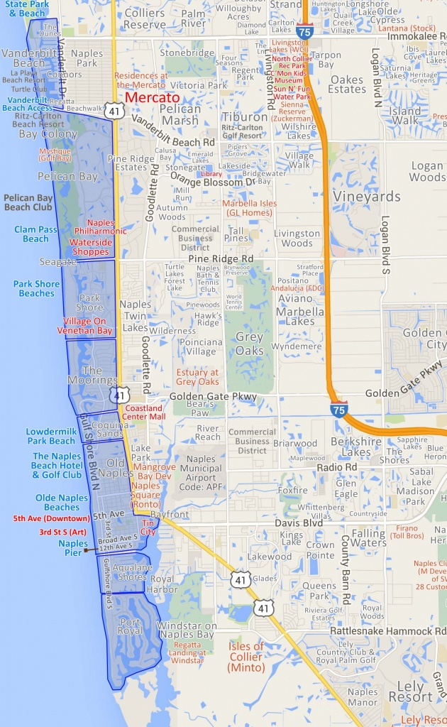 Map Of Map Of Naples – New Countries – New Experiences - Naples Florida Attractions Map
