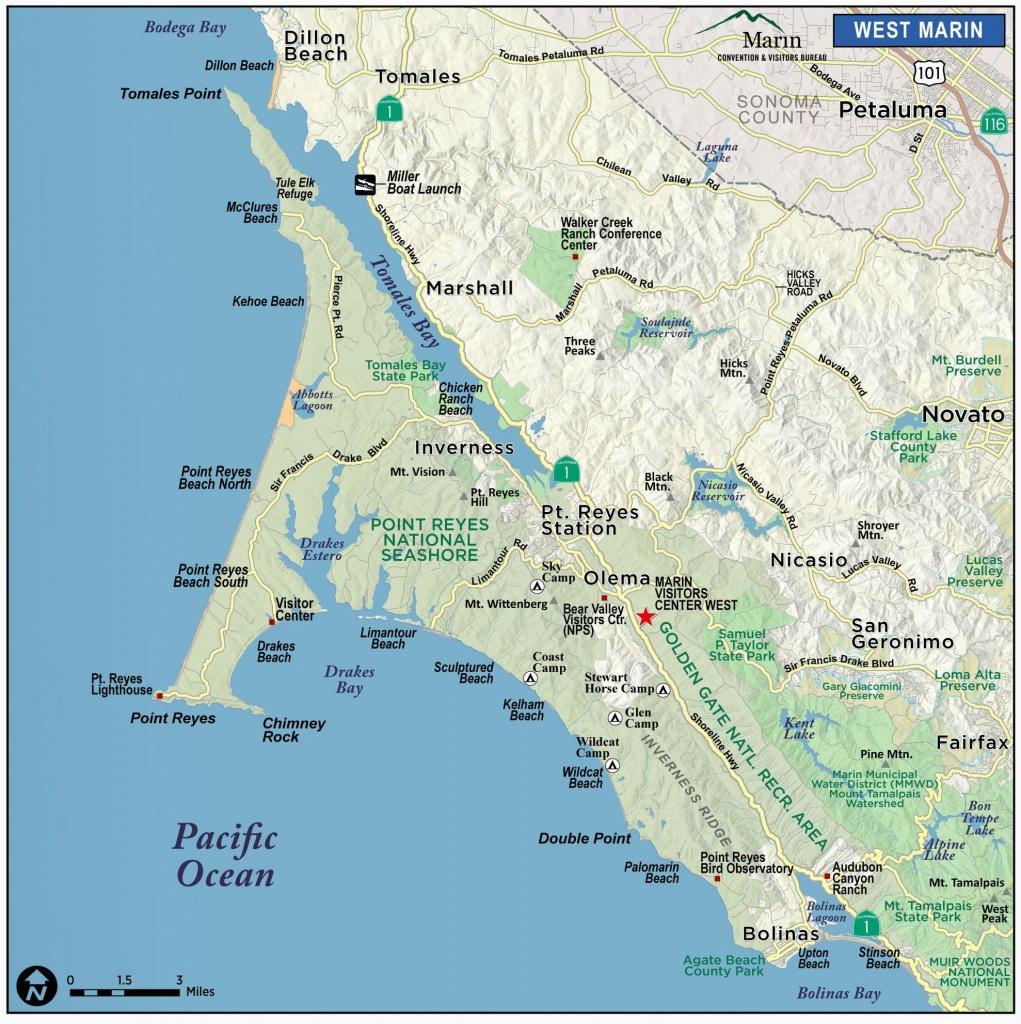 Map Of Marin County California Map Of Marin Directions – Secretmuseum - Marin County California Map