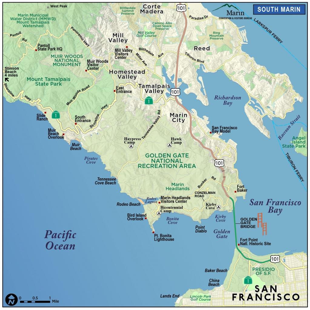 Map Of Marin & Directions – Maps & Transportation – Marin County - Marin County California Map