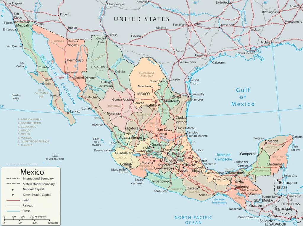 Map Of Mexico - Baja California, Cancun, Cabo San Lucas - Map Of California And Mexico Coast