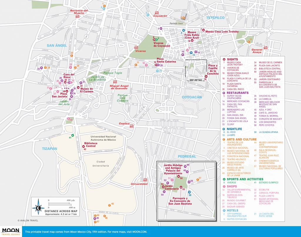 Map Of Mexico City Mexico Printable Travel Maps Of Mexico City - Printable Map Of Mexico City
