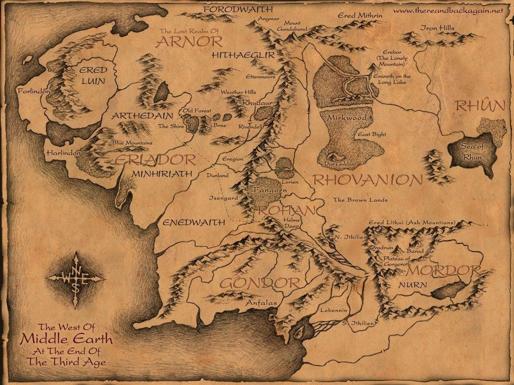 Map Of Middle Earth Wallpapers - Wallpaper Cave - Printable Lord Of The Rings Map