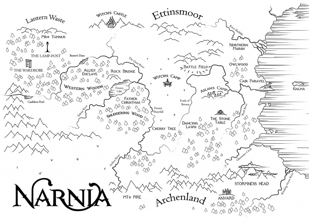 Map Of Narnia | Etsy - Printable Map Of Narnia