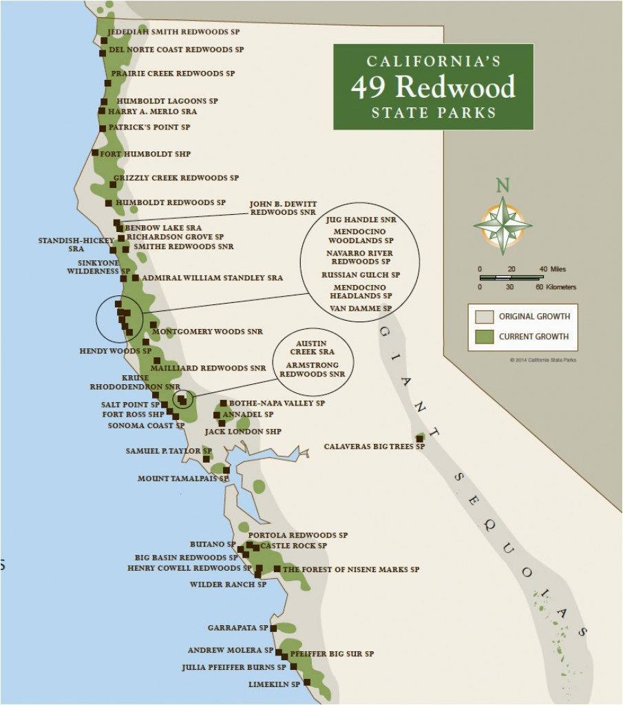 Map Of National Parks In California | Secretmuseum - National And State Parks In California Map