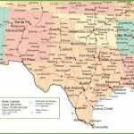 Map Of New Mexico, Oklahoma And Texas   Map Of New Mexico And Texas