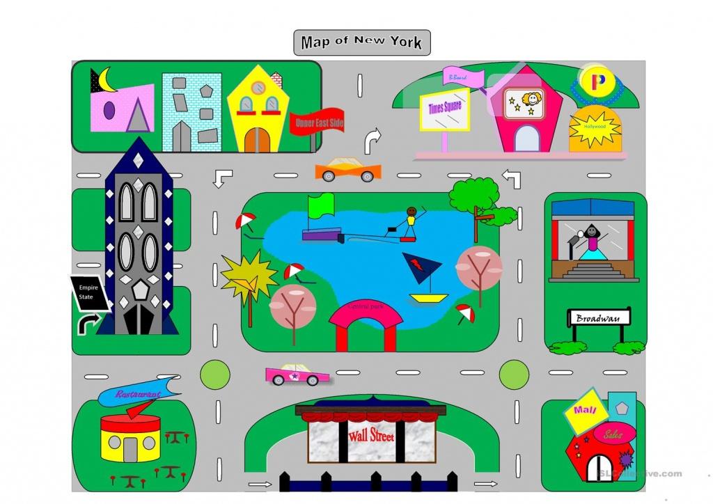 Map Of New York City Worksheet - Free Esl Printable Worksheets Made - Printable Town Maps
