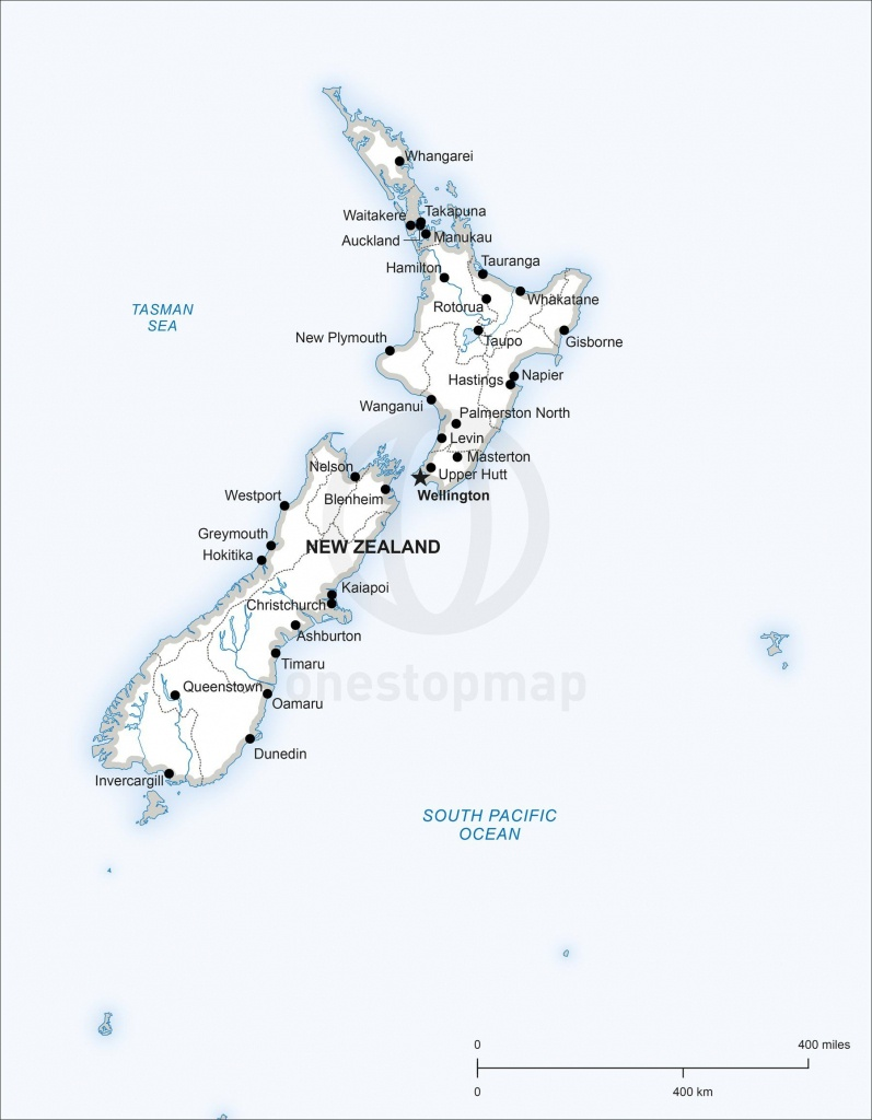 Map Of New Zealand Political In 2019   Maps Of Australia - Continent - Printable Map Of New Zealand