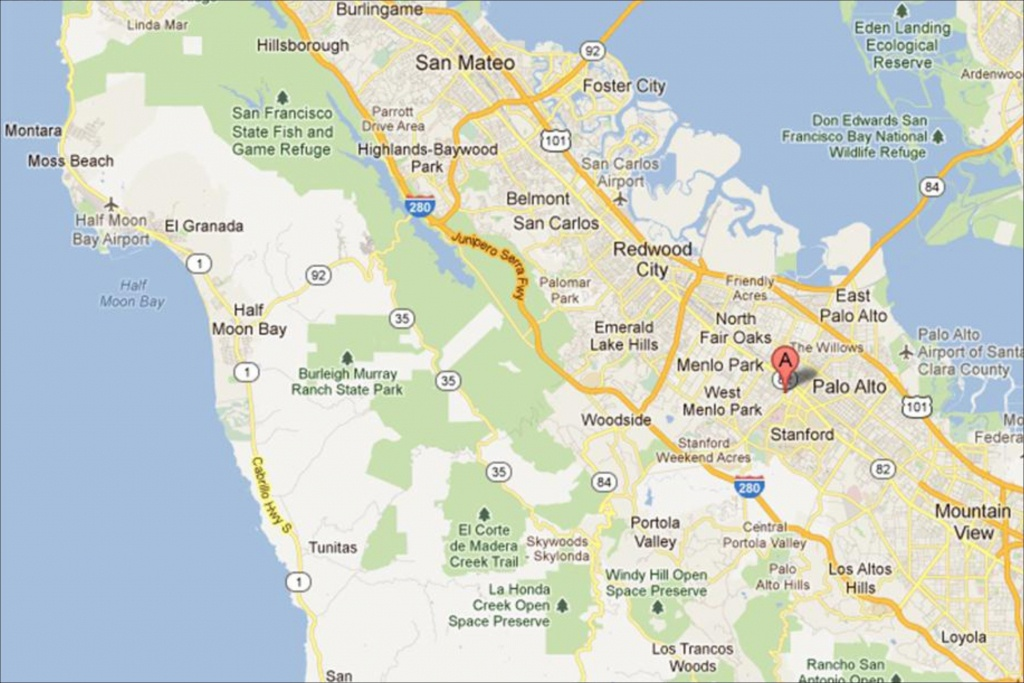 Map Of Northern California Palo Alto – Map Of Usa District - Palo Alto California Map