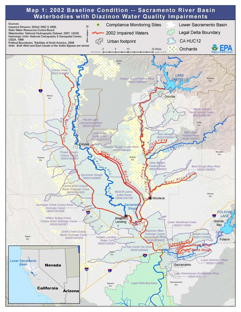 Map Of Northern California Waterways – Map Of Usa District - California Waterways Map