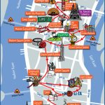 Map Of Nyc Tourist Attractions, Sightseeing & Tourist Tour   New York Printable Map Pdf