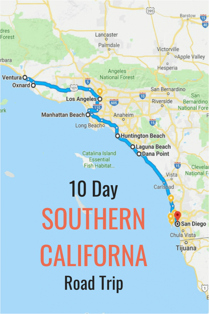 Map Of Orange County California Cities 10 Day Itinerary Best Places - Map Of Southern California Cities