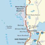 Map Of Oregon And California Coast | Travel Maps And Major Tourist   Map Of Oregon And California Coastline