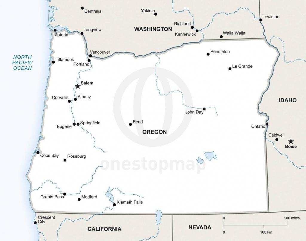 Map Of Oregon Political - Printable Map Of Oregon