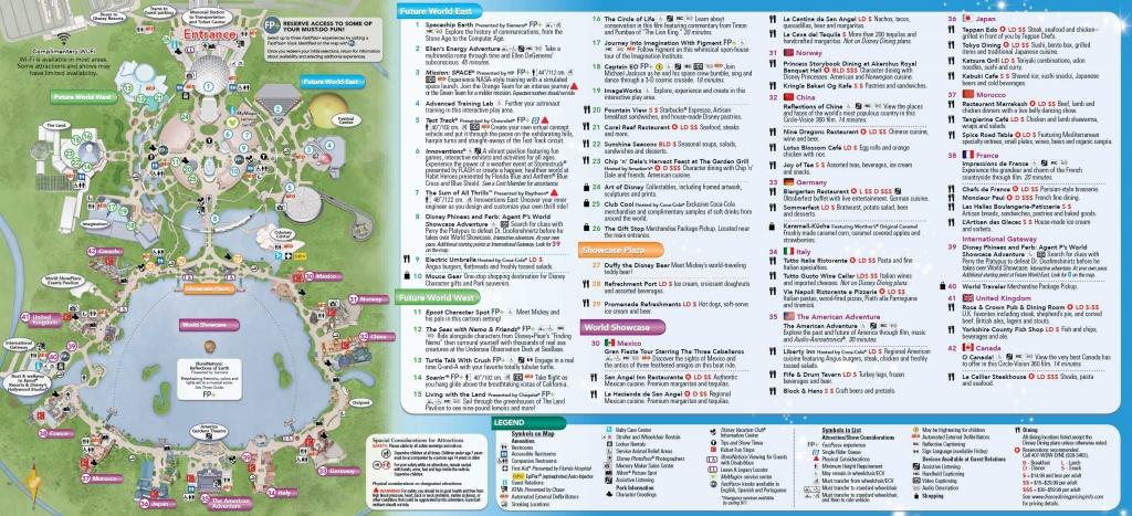Map Of Printable Map Of Walt Disney World Resort, - World Map Database - Wdw Maps Printable