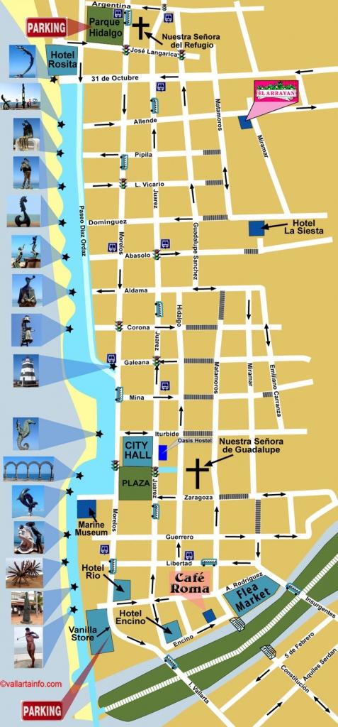 Map Of Puerto Vallarta Downtown - Vallarta Info - Puerto Vallarta Maps Printable