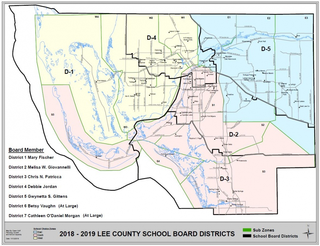 Map Of Residential Areas - Lee County Schools - Map Of Lee County Florida