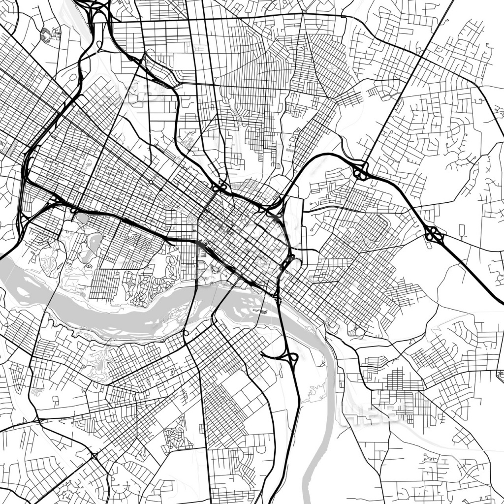 Map Of Richmond, Virginia | Hebstreits Sketches - Printable Map Of Richmond Va