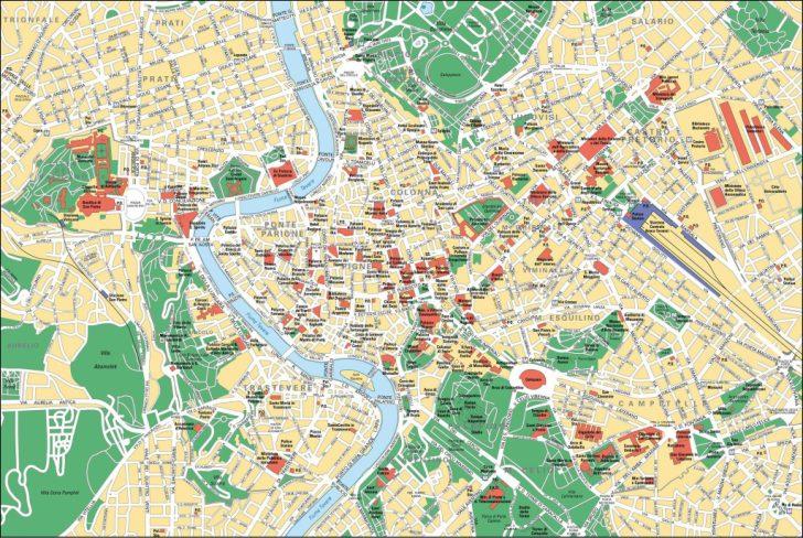 Rome City Map Printable