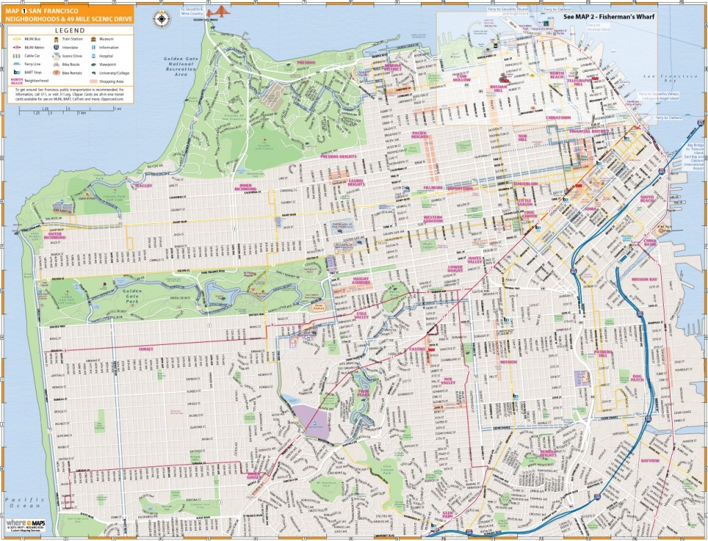 Map Of San Francisco: Interactive And Printable Maps | Wheretraveler - Printable Map Of San Francisco Downtown