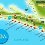 Map Of Scenic Highway 30A/south Walton, Fl Beaches | Florida: The   Ft Walton Florida Map