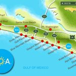 Map Of Scenic Highway 30A/south Walton, Fl Beaches | Florida: The   Where Is Seacrest Beach Florida On The Map