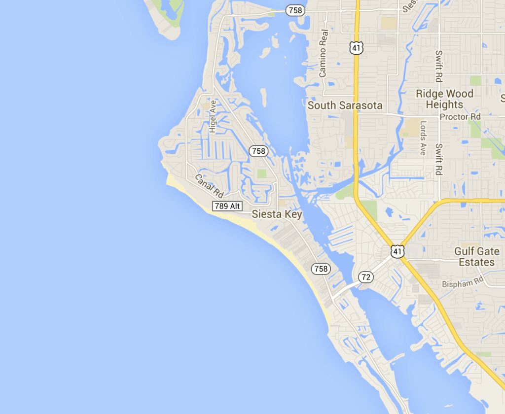 Map Of Siesta Key - Hotels And Attractions On A Siesta Key Map - Siesta Beach Sarasota Florida Map