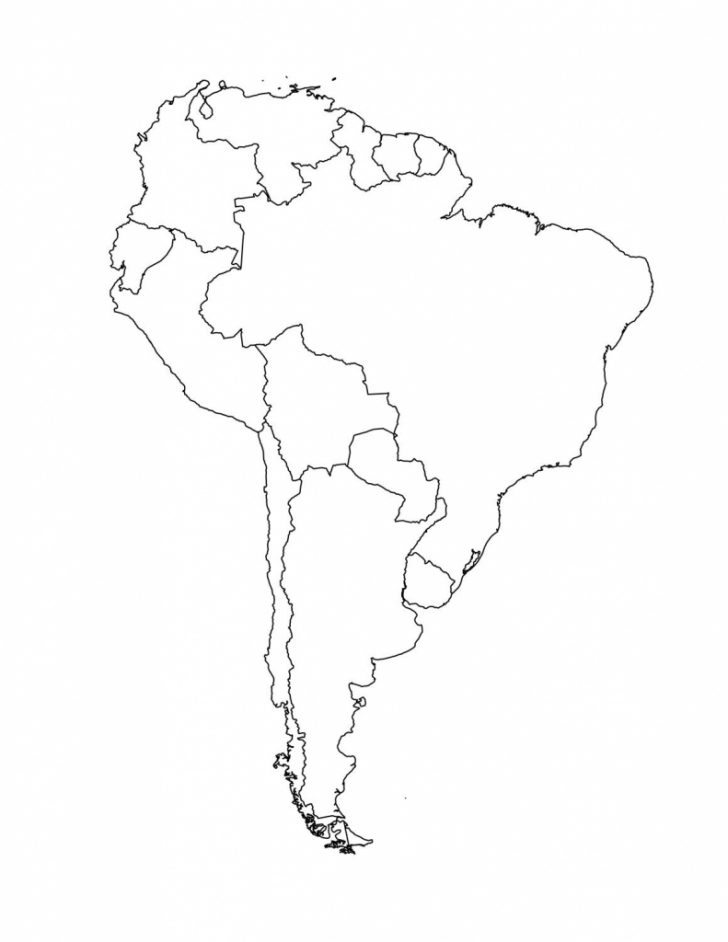 Printable Map Of Latin America