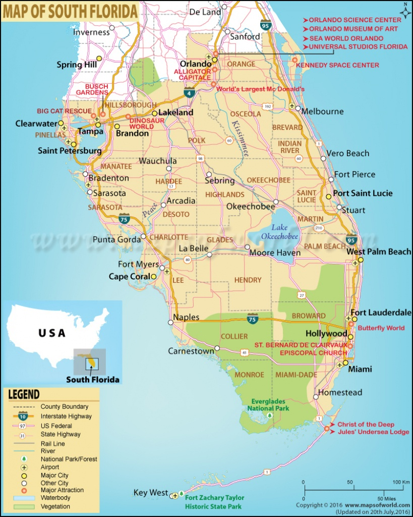 Map Of South Florida, South Florida Map - Map Of Florida Cities And Beaches