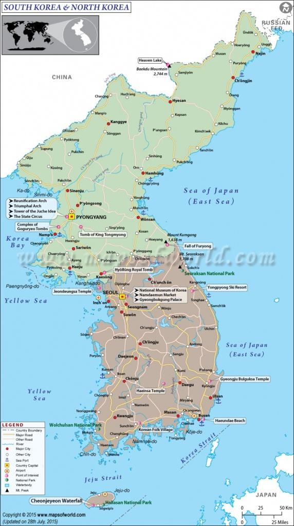 Map Of South Korea And North Korea - Printable Map Of Korea